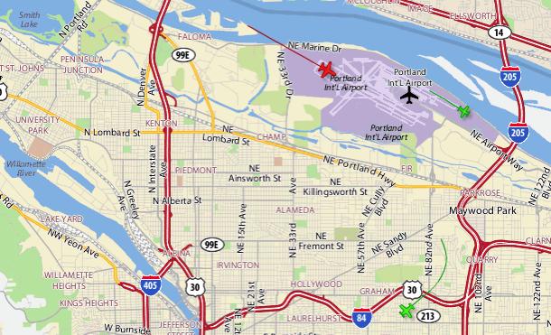Port of Portland Flight Tracker