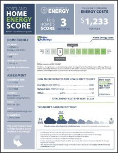 Portland Home Energy Scorecard